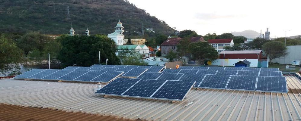 Centrale de 13 kW en toiture sur l'île Maurice
